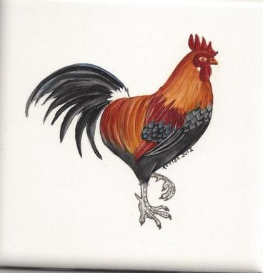 Custom Made Rooster Tile