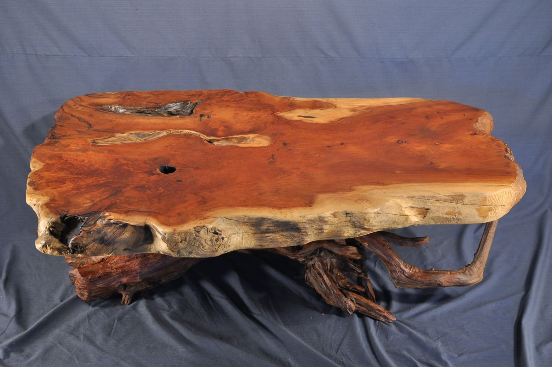 Custom Made Redwood Burl Coffee Table by Driftwood Decor