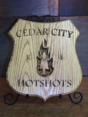 Custom Made Wooden Plaque