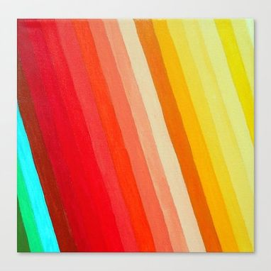 Custom Made Retro Rainbow In Ombre Painting
