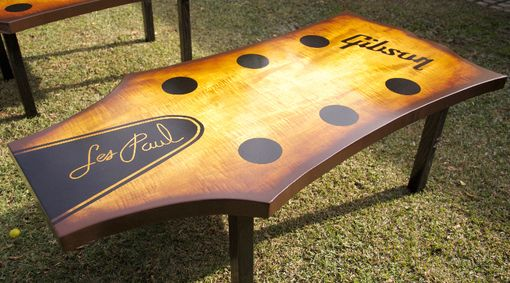 hand crafted guitar headstock coffee tableheartsong woodwork
