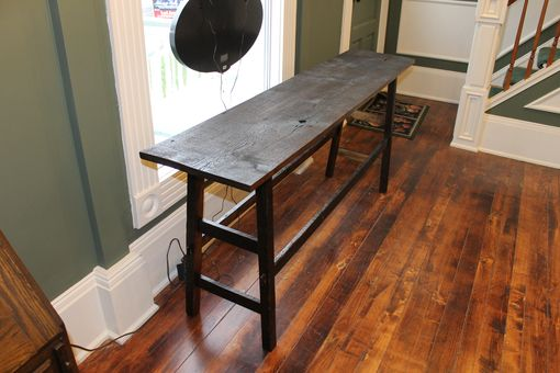 Custom Made Reclaimed Barnwood Sofa Table And Coffee Table