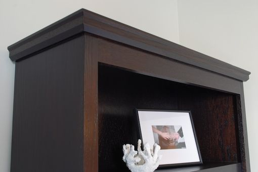 Custom Made Espresso Stained Oak Bookcase
