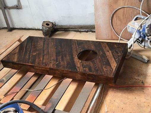 Custom Made Pallet Wood Cornhole Game Table