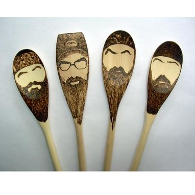 Custom Made Duck Dynasty Wooden Spoons