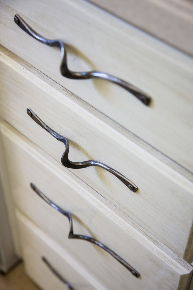 Custom Made Hand Forged Door And Drawer Pulls