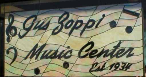 Custom Made Music Shop Sign