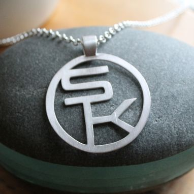 Custom Made Pendant With Sk Letters