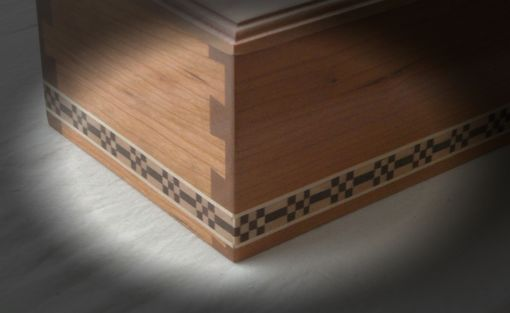 Custom Made Cherry Keepsake Box With Inlay Banding