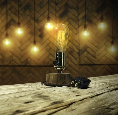 Buy a Hand Made Minimalist Table Lamp - Solid Brass With