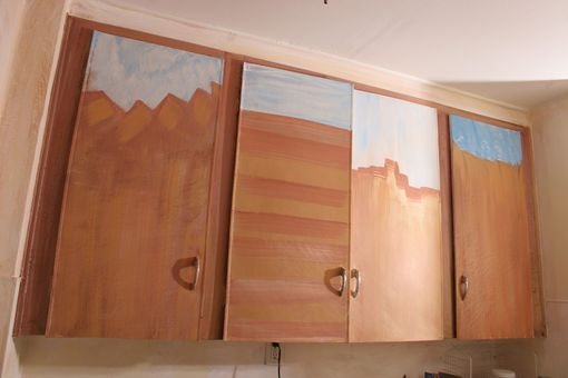 Custom Made Abstract Painting On Cabinets