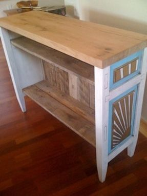 Custom Made Sunburst Side Table