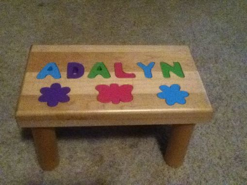 Custom Made Childs Foot Stool With Name