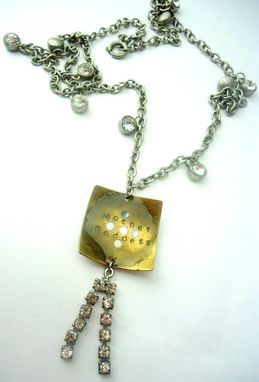 "Custom Made Sale...Crystal Resin ""Mother Goddess"" Necklace, Recycled Jewelry"