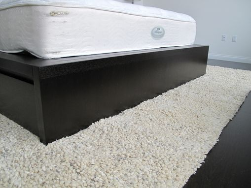 Custom Made Modern Espresso Bed With Storage