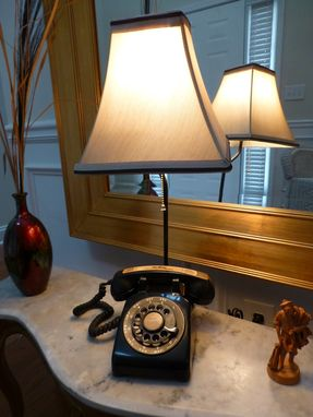 Custom Made Rotary Phone Lamp Upcycle.