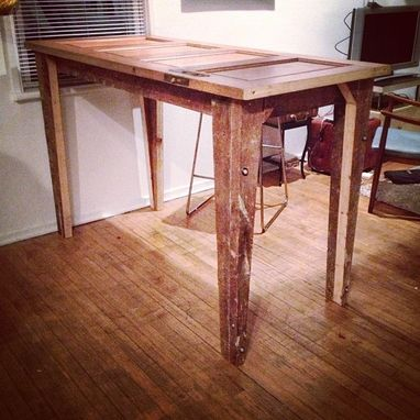 Custom Made Salvaged Doors Built Into Tables