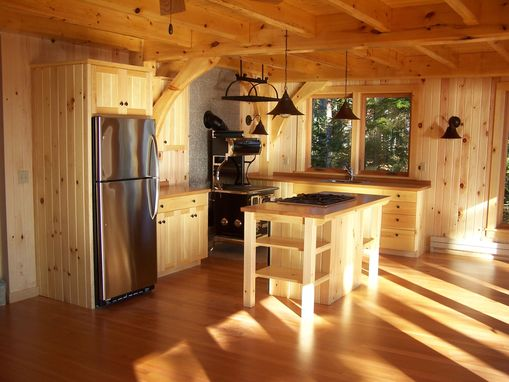 Custom Made Kitchen In Pine And Fir