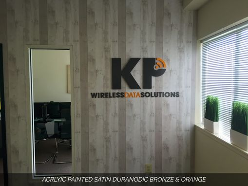 Custom Made Custom Metal & Acrylic Wall Letters For Office Lobby Or Reception Desk