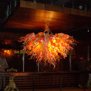 Custom Made Park At 14th Nightclub: Two Custom Made Chandeliers | Hand Blown Glass Art Lighting