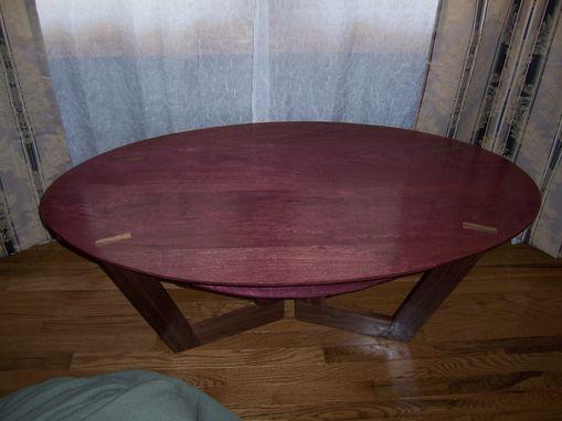 Custom Purpleheart Coffee Table By Clark Mcgill Furniture