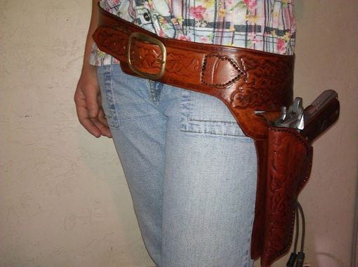 Custom Made 1911 Gunfighter Belt And Lined Holster Gun Fighter Rig Gunslinger Western Style Holster