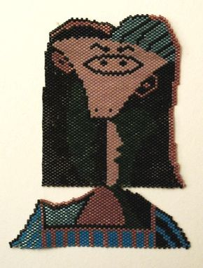 Custom Made Picasso Portrait Necklace Iii