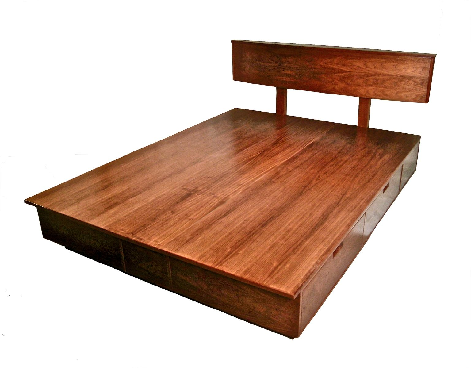 Hand Crafted Derby Platform Bed With Storage by Brushaber ...