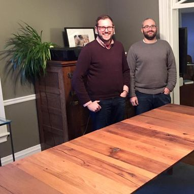 Custom Made Reclaimed Oak & Steel Table