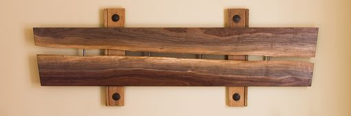 Custom Made Walnut - Barnwood - Bronze Screen Sculpture