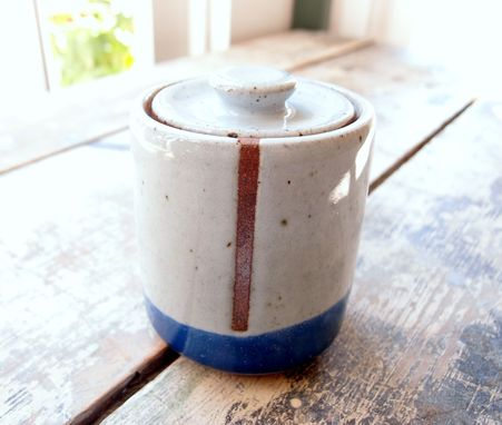 Custom Made Lidded Jars In Blue And White