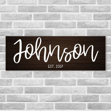 Custom Made Personalized Wooden Last Name Established Sign