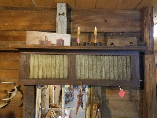 Custom Made Reclaimed Shutter Shelf, Reclaimed Wood, Decorative Shelving
