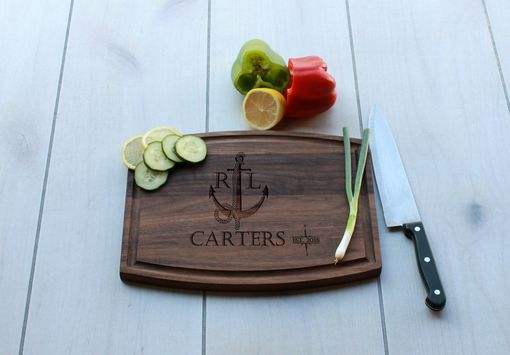 Custom Made Personalized Cutting Board, Engraved Cutting Board, Custom Wedding Gift – Cba-Wal-Carters Nautical