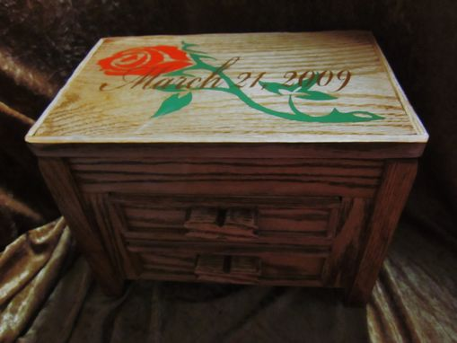 Custom Made Wedding Box Jewelry Box