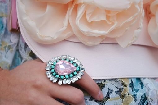 "Custom Made Rhinestone Ring ""Lulu''"