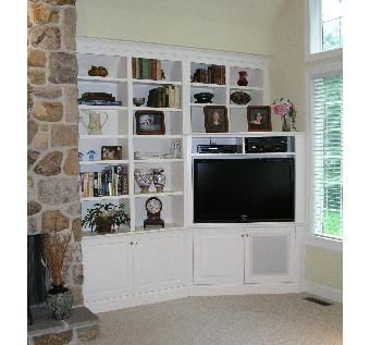 Custom Made Built In Corner Tv Cabinet