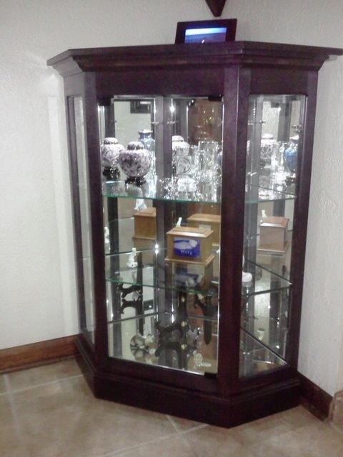 Attractive Custom Corner Console Curio Cabinet by Ziegler Woodwork And  WZ23