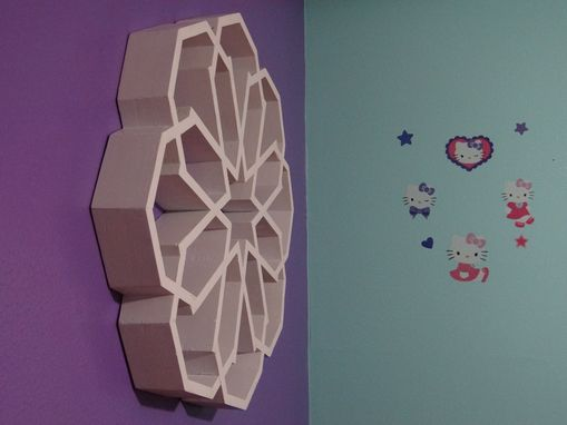 Custom Made The Snowflake - Floating Shelves-Modern Shelving-Wall Art-Wall Decor-Shelf-Geometric-Snowflake