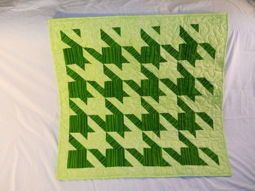 Custom Made Two Tone Baby Quilt.