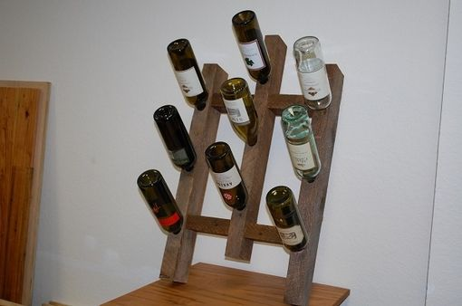 Custom Made Reclaimed Oak Wine Rack