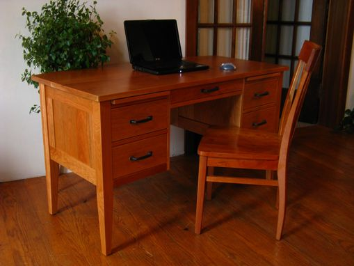 Custom Made Bow Front Writing Desk