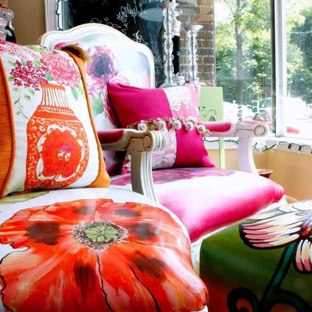 Custom Hand Painted Dining Chairs by Jane Hall The Voice Of Style ...