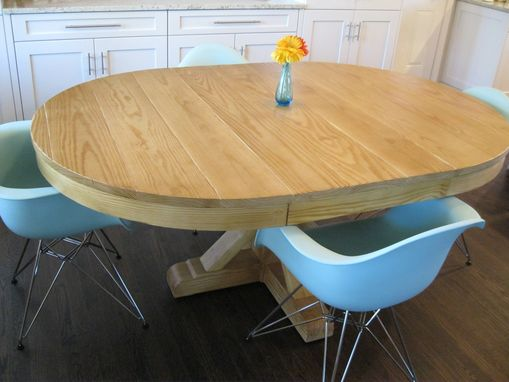 Custom Made Rustic Round Dining Room Table