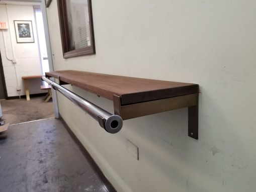 Custom Made Industrial Heavy Duty Shelf Bracket With Hook For Rod 1.5""