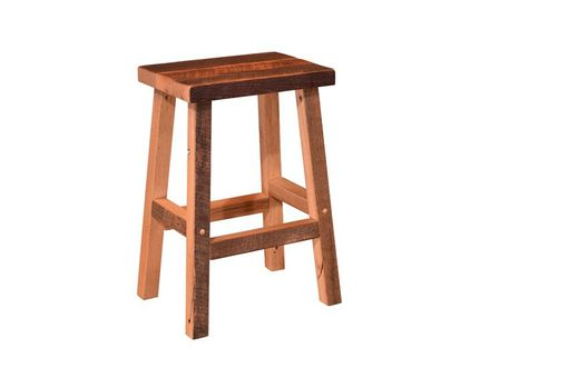 Custom Made Reclaimed Wood Bar Stool