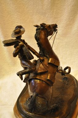 Custom Made Bronze Pony Express Sculpture