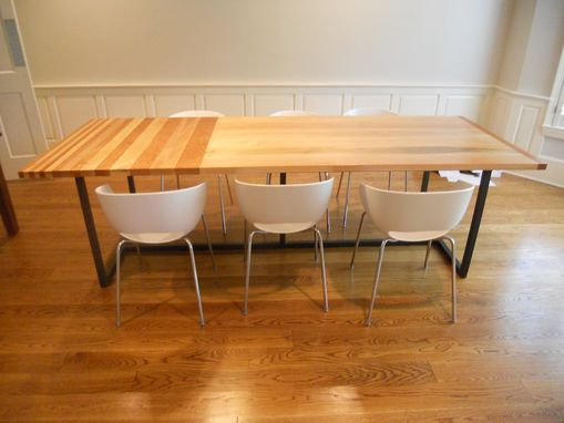 Custom Made Dining Room Table In Fondren Home