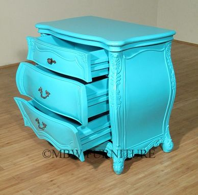 Custom Made Rococo 3 Drawer Nightstand Side Table