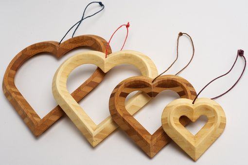 Custom Made Bamboogems Heart Ornaments